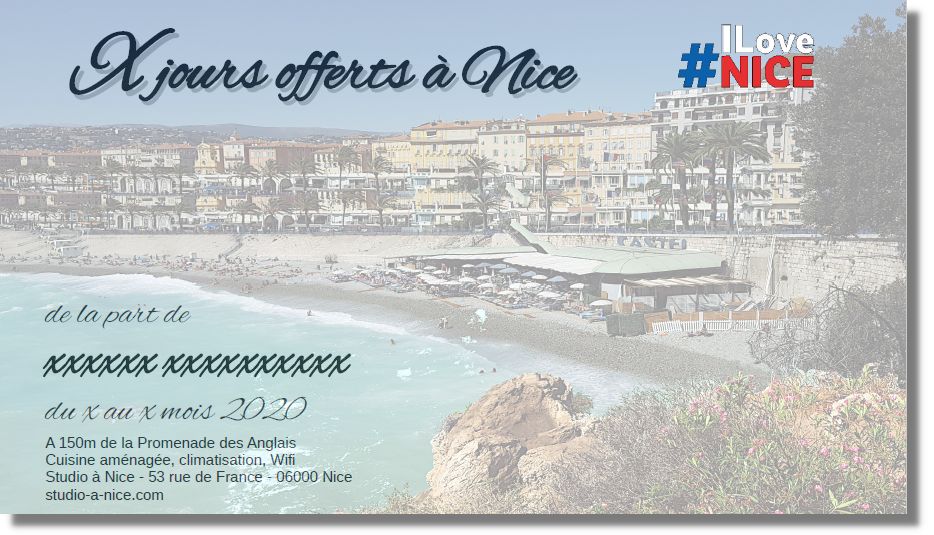 Offer a holiday in Nice with a gift card